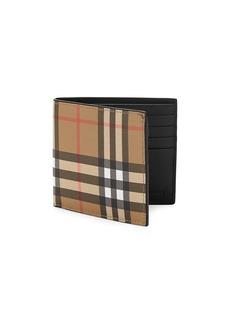 Burberry Haymarket Plaid Bi-Fold Wallet