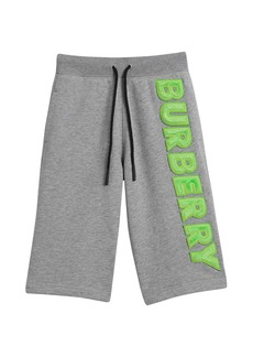 Burberry Heathered Logo Shorts