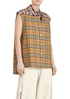 Burberry Hen Sleeveless Vintage Check Button-Front  Shirt