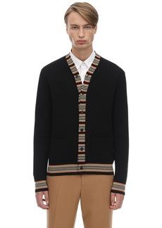 Burberry Heritage Merino Wool Knit Cardigan