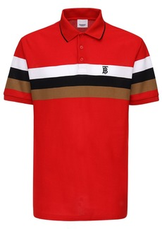 Burberry Heritage Striped Cotton Piqué Polo Shirt
