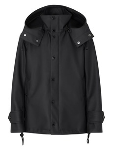 Burberry Hooded Logo Slicker Coat
