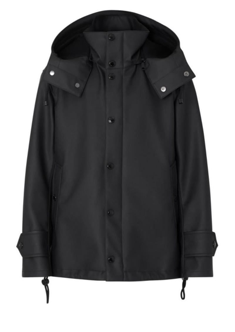 Burberry Hooded Logo Slicker Coat