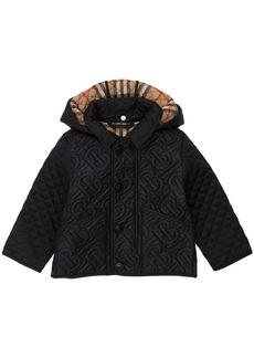 Burberry Hooded Nylon Puffer Coat
