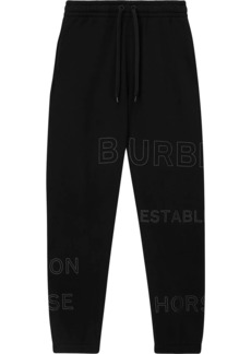 Burberry Horseferry print track pants