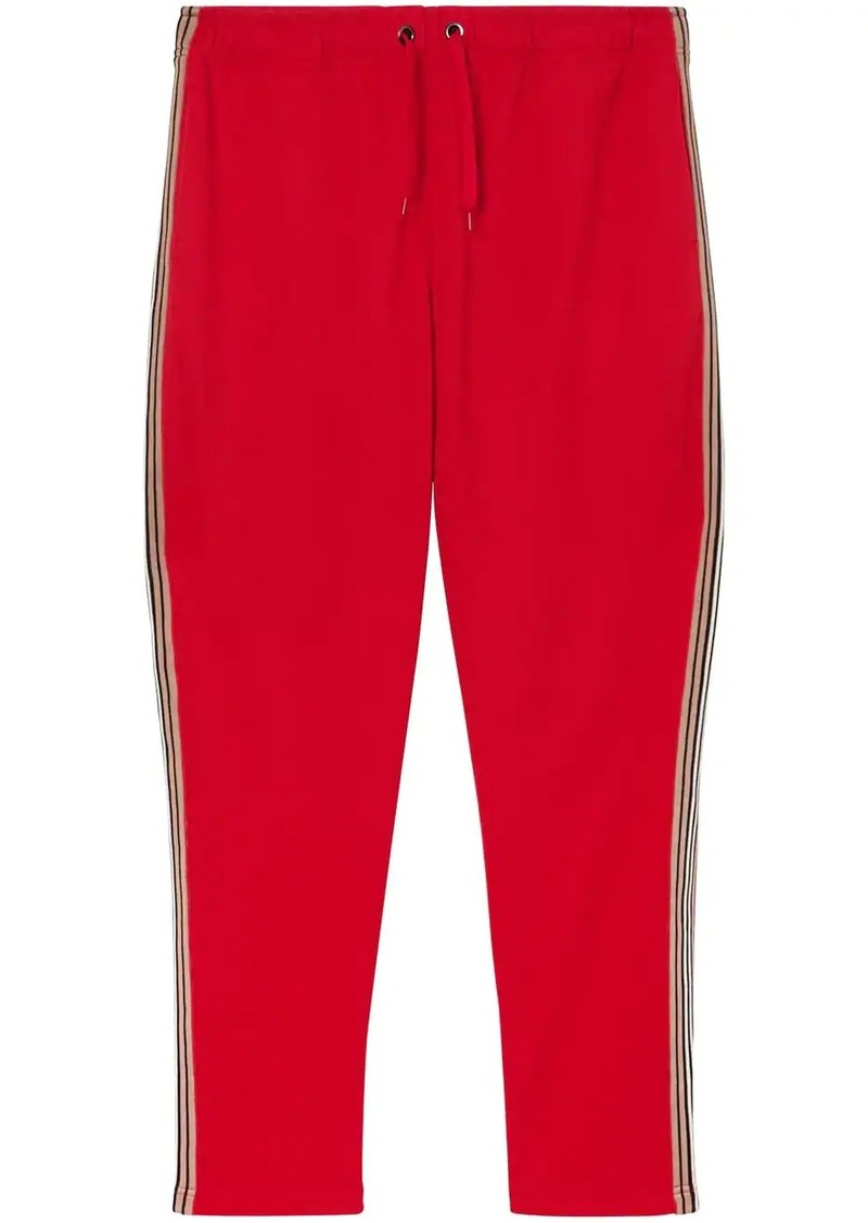 Burberry Icon Stripe Detail Jersey Trackpants