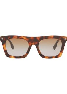 Burberry Icon stripe detail rectangular-frame sunglasses