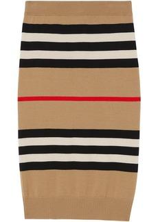 Burberry Icon stripe merino wool pencil skirt
