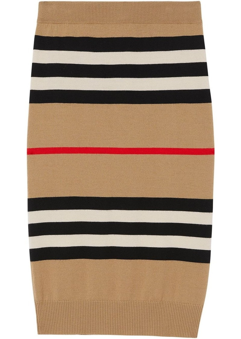 Burberry Icon stripe merino wool pencil skirt