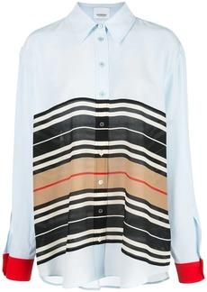 Burberry Icon Stripe oversized shirt