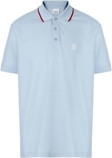 Burberry Icon Stripe Placket Cotton Piqué Polo Shirt