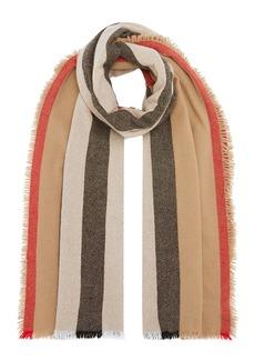 Burberry Icon Stripe Wool-Cashmere Scarf