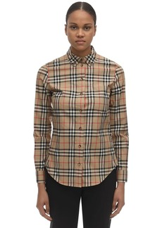 Burberry Icon Checked Stretch Poplin Shirt