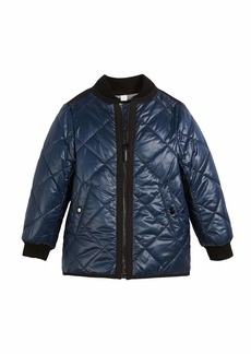 Burberry Ila Reversible Quilted Bomber Jacket  Size 4-14