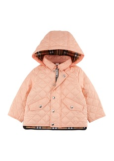 Burberry Ilana Quilted Hooded Coat  Size 12M-3