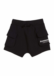 Burberry Ines Cotton Logo Shorts  Size 3-14