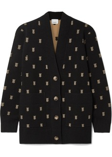 Burberry Intarsia-knit Cardigan