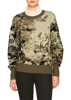 Burberry Intarsia Silk-Blend Sweater