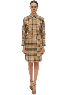 Burberry Isotto Printed Cotton Poplin Dress