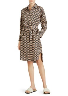 Burberry Isotto Retro Check Print Shirt Dress