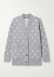 Burberry Jacquard-knit Cardigan