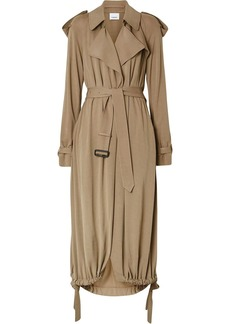 Burberry Jersey Wrap Coat