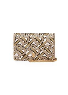 Burberry Jessie Chain Monogram Wallet