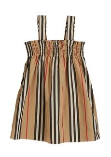 Burberry Junia Icon Stripe Smocked Sun Dress  Size 6M-2