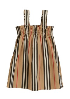 Burberry Junia Icon Stripe Smocked Sun Dress  Size 6M-2