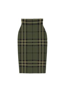Burberry Kammie Check Pencil Skirt