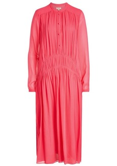 Burberry Kara Button-Down Silk Chiffon Dress