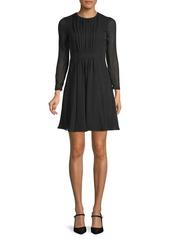 Burberry Karinkalt A-Line Silk Dress