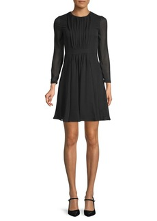 Burberry Karinkalt A-Line Silk Dress
