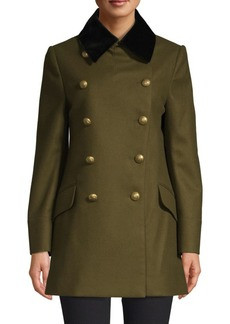 Burberry Kelson Double-Breasted Military Wool Coat
