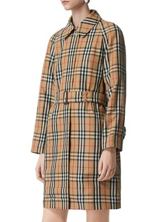 Burberry Kempton Vintage Check Belted Rain Coat