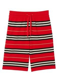Burberry Kenton Icon Stripe Knit Bermuda Shorts
