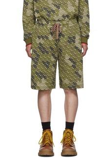 Burberry Khaki Monogram Shorts