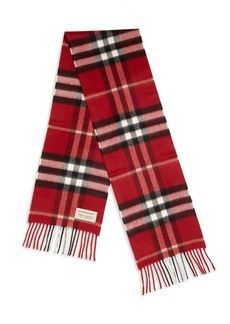 Burberry Kid's Cashmere Check Scarf