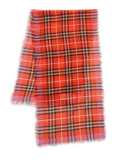 Burberry Kid's Wool-Silk Plaid Scarf