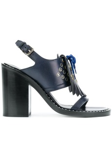 Burberry kiltie fringe sandals