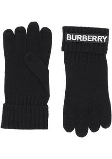 Burberry kingdom and logo appliqué gloves
