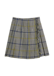 Burberry Klorrian Wool Houndstooth Check Skirt  Size 3-14