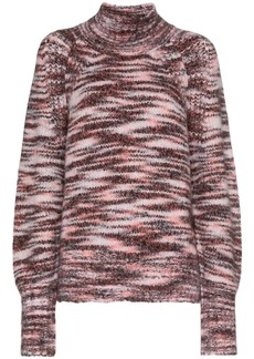 Burberry knit high neck cashmere blend sweater