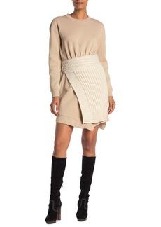 Burberry Knit Overlay Sweater Dress