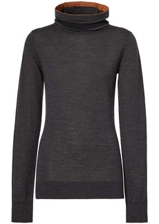Burberry knitted roll neck jumper