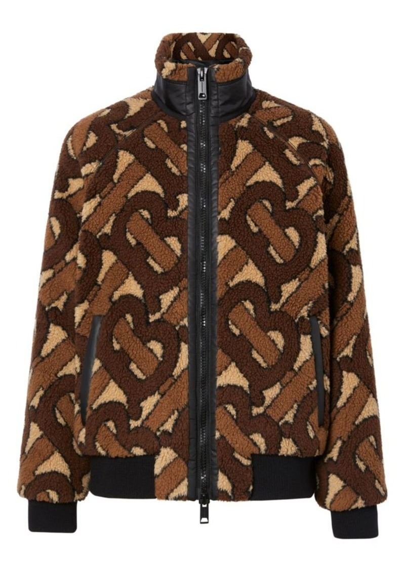 Burberry Lambeth Monogram Fleece Jacket