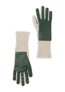 Burberry Lambskin Knit Gloves