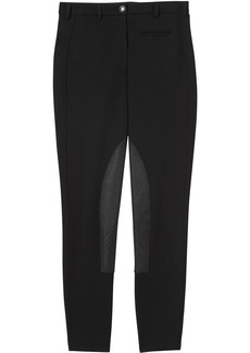Burberry Lambskin Panel Stretch Crepe Jersey Trousers
