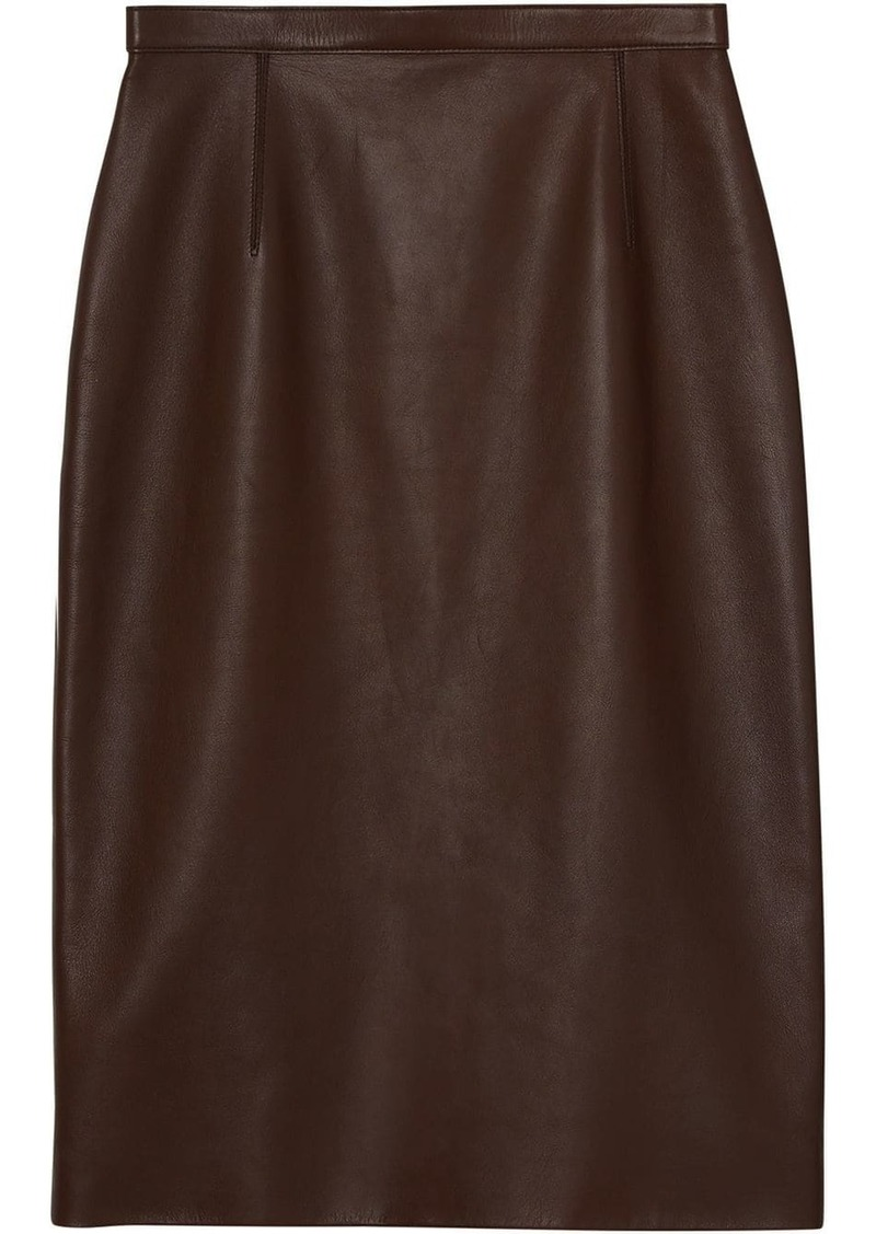 Burberry Lambskin Pencil Skirt