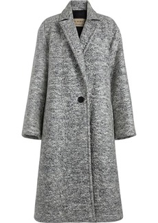 Burberry Laminated Cashmere Wool Blend A-line Coat